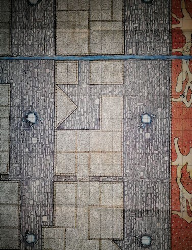 A1 sized Dungeon Map