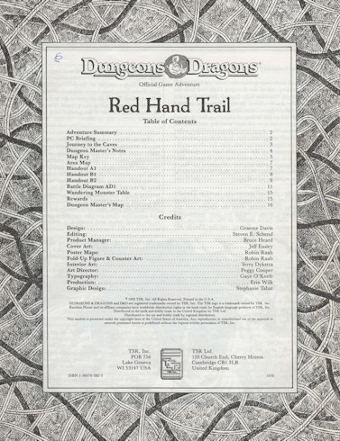 Dungeons & Dragons - Red Hand Trail