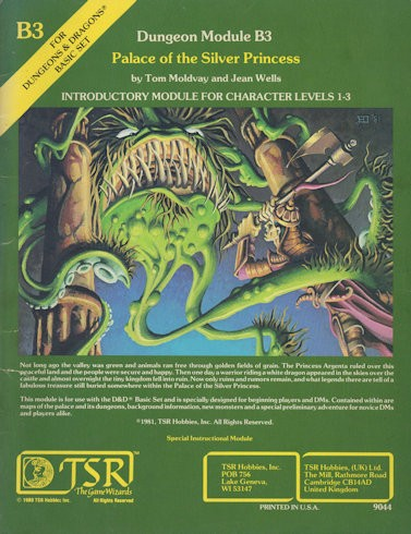 Een klassieke D&D module - Palace of the Silver Princess