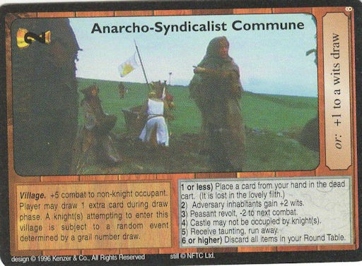 Anarcho-Syndicalist Commune - Monty Python and the Holy Grail CCG