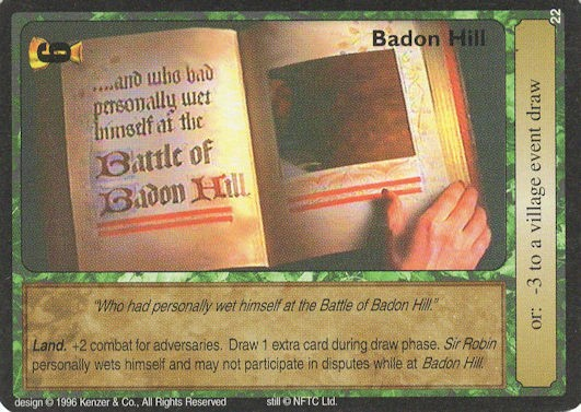 Badon Hill - Monty Python and the Holy Grail CCG