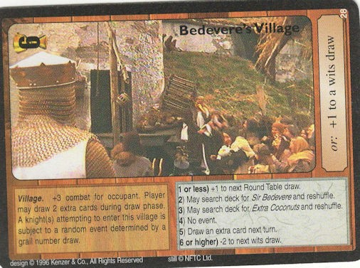 Bedevere's Village - Monty Python and the Holy Grail CCG