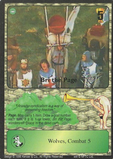 Bri the Page - Monty Python and the Holy Grail CCG