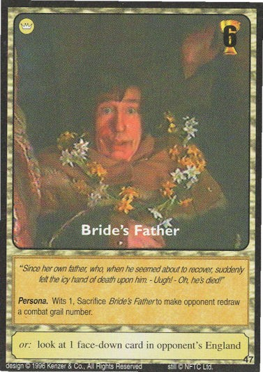 Bride's Father - Monty Python and the Holy Grail CCG