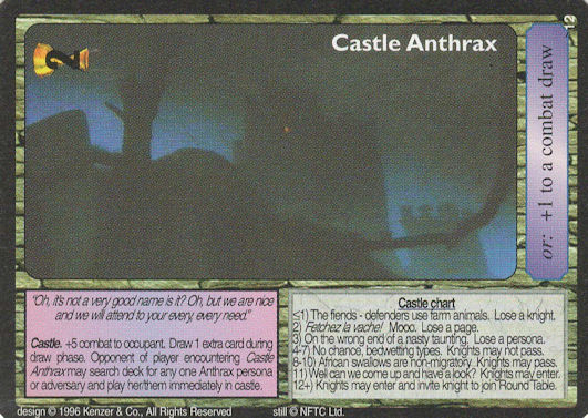 Castle Anthrax - Monty Python and the Holy Grail CCG