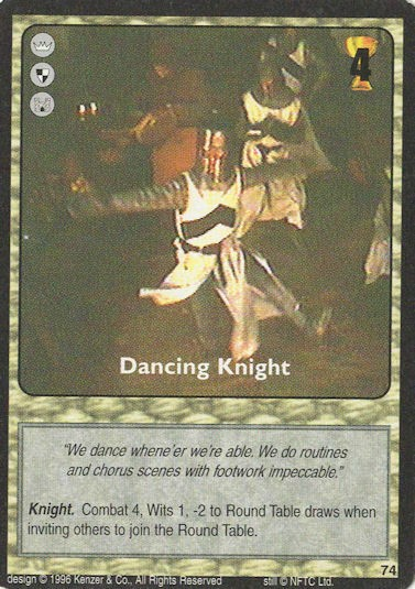 Dancing Knight - Monty Python and the Holy Grail CCG
