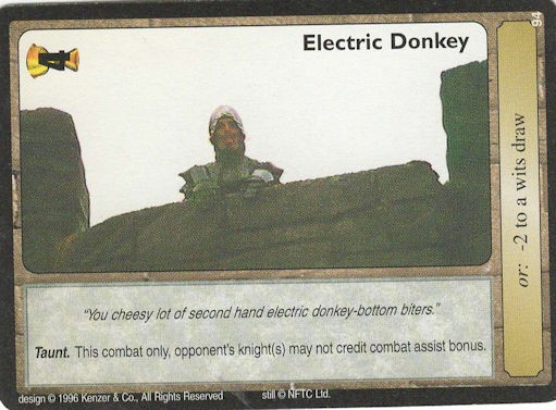 Electric Donkey - Monty Python and the Holy Grail CCG