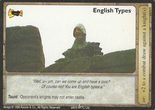 English Types - Monty Python and the Holy Grail CCG