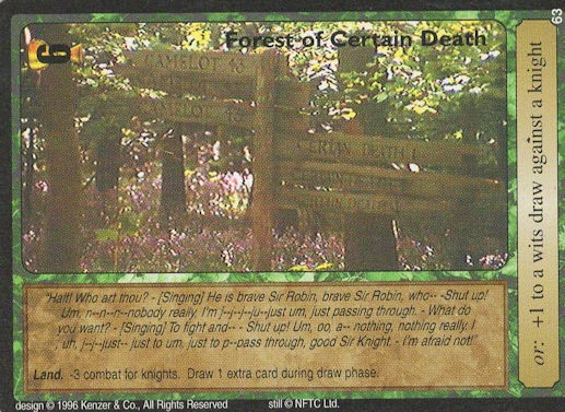 Forest of Certain Death - Monty Python and the Holy Grail CCG