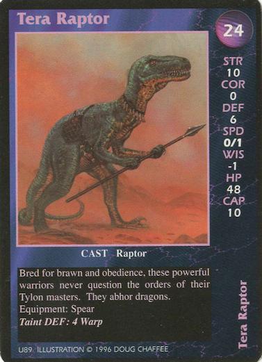 Tera Raptor is a Dragonstorm CCG card