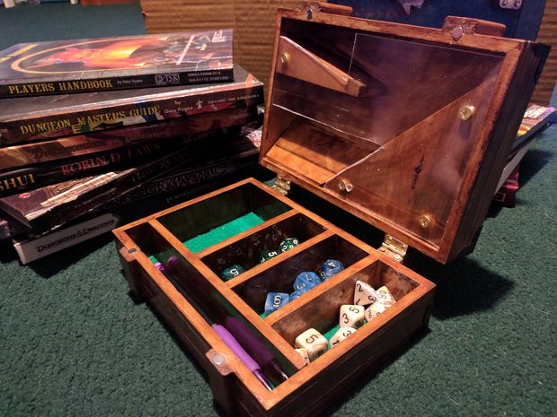 "Tower Box Dice Case - Is it a Dice Tower? Is it a Dice box? No, IT""S BOTH!!"
