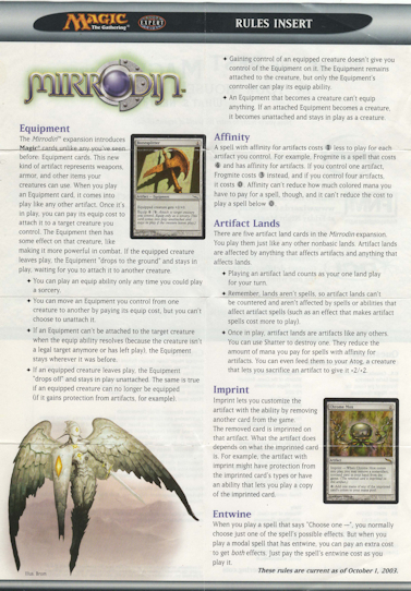 Mirrodin Rules Insert