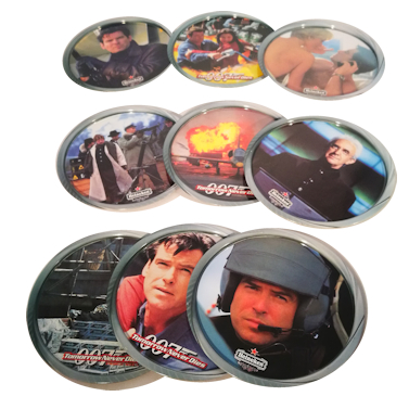 Set of 9 James Bond Coasters