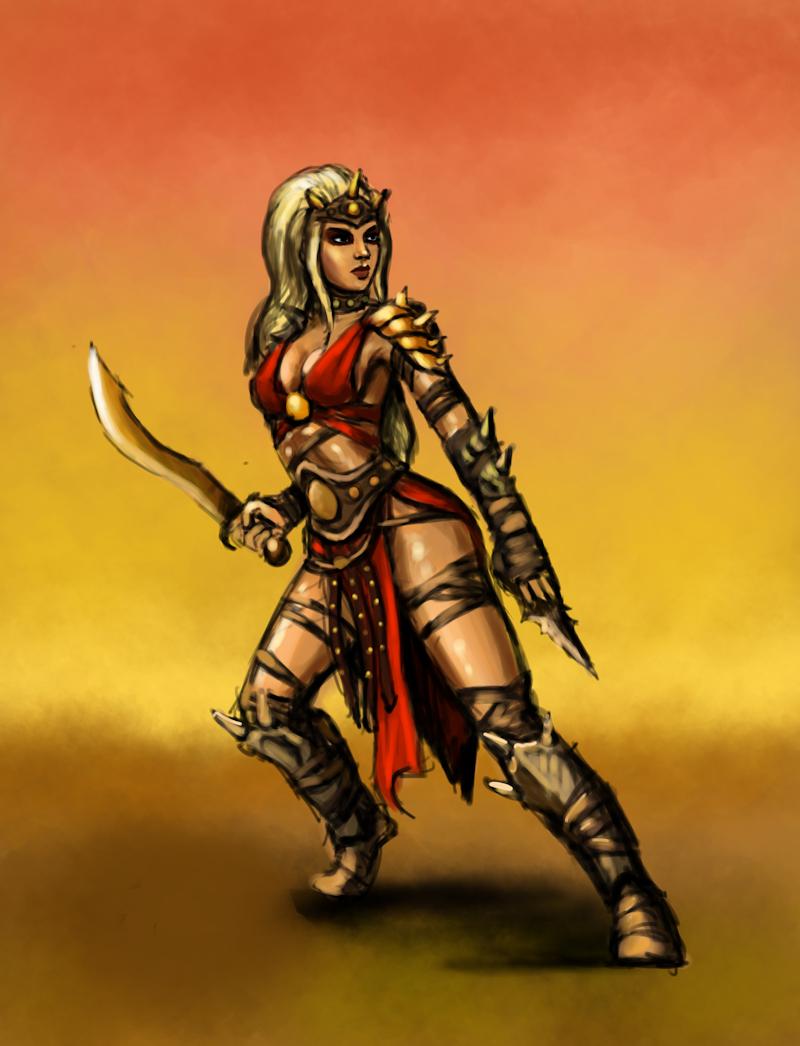 Een krijger in de Dungeons & Dragons Darksun wereld