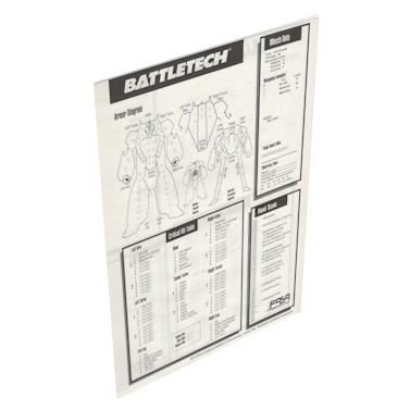 Battletech 3rd Edition – Damage Sheets