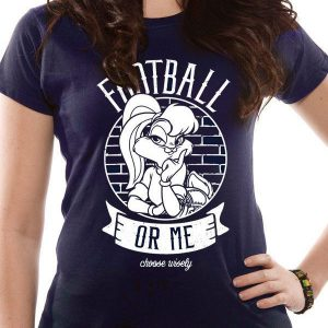 Looney Tunes - Ladies T-Shirt - Lola Bunny - Football Or Me