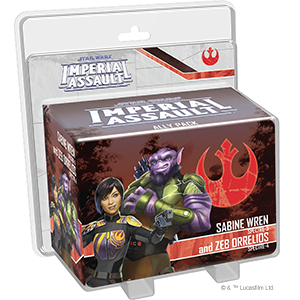 Imperial Assault - Sabine Wren and Zeb Orrelios Ally Pack