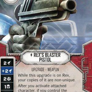Rex's Blaster Pistol - Way of the Force - MINT + DIE