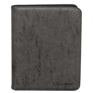 Zippered Pro Binder – 9-Pocket – Suede Collection – Jet