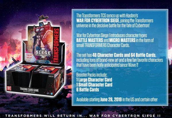 Transformers CCG – Siege – War for Cybertron I – Boosterpack