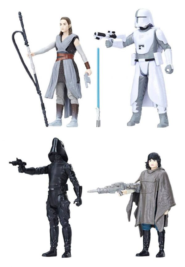 Star Wars Episode VIII – Force Link Action Figure – 4-Pack 2018 – Battle on Crait – 10 cm