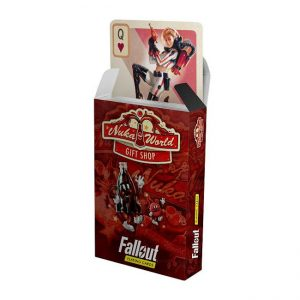 Poker cards with a Nuka World theme from Fallout by Bethesda
