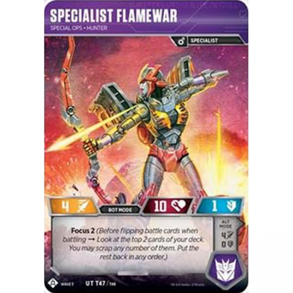 Specialist Flamewar – Special Ops Hunter