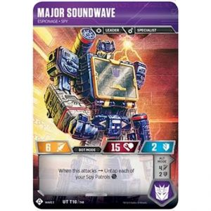 Major Soundwave – Espionage Spy