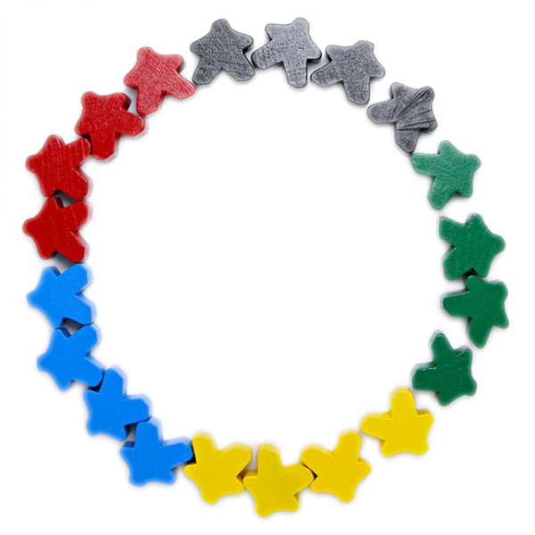 Wooden Meeples 16mm – Various colors