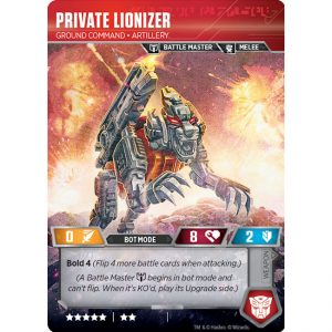 Private Lionizer – Ground Command Artillery