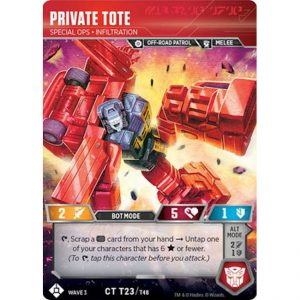 Private Tote – Special Ops Infiltration