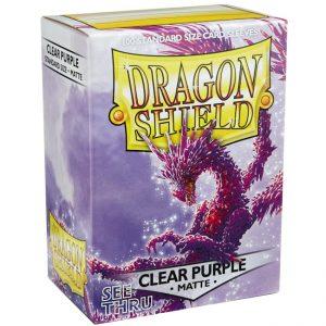 SLEEVES Dragon Shield – Matte – Clear Purple