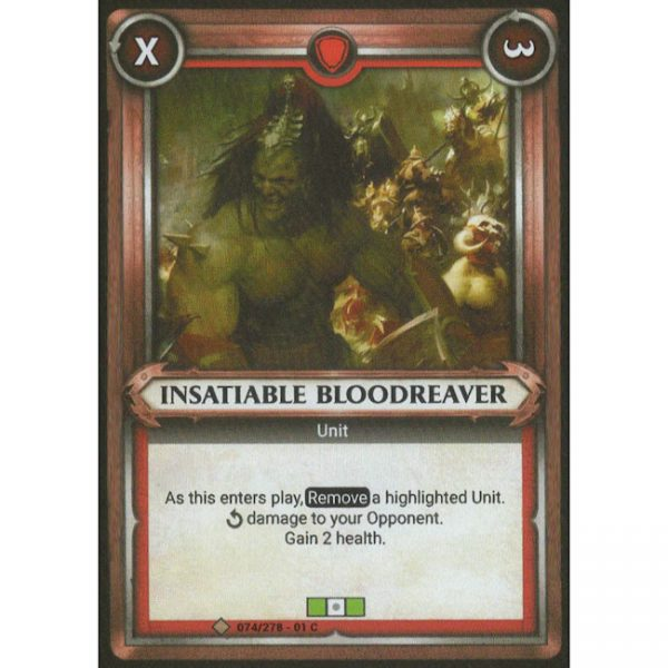 Insatiable Bloodreaver (Unclaimed)