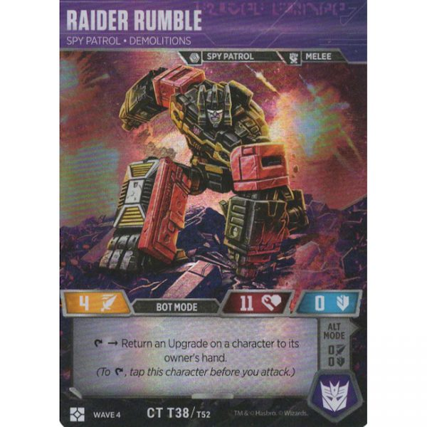 Raider Rumble – Spy Patrol Demolitions