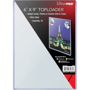 Ultra Pro – Titan sized Toploaders 6″x9″ (152mm x 228mm) – 25 Pcs