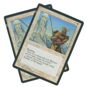 Kjeldoran Warrior Misprint – Ice Age – Set of 2
