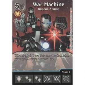 War Machine – Improv Armor – Marvel Dice Masters – Full Art