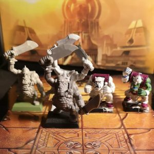 5 Warhammer Orcs (used)