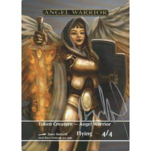Token Creature – Angel Warrior by Dave Holland