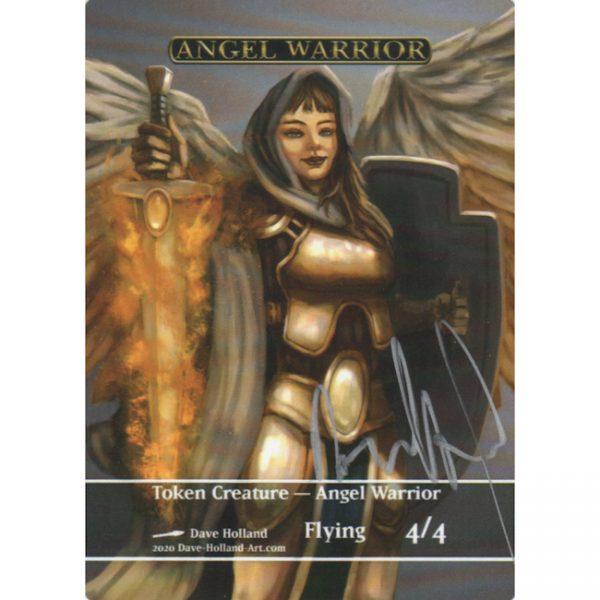 Token Creature – Angel Warrior by Dave Holland