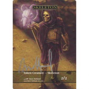 Token Creature – Skeleton by Dave Holland